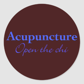 Acupuncture - Open the chi Classic Round Sticker
