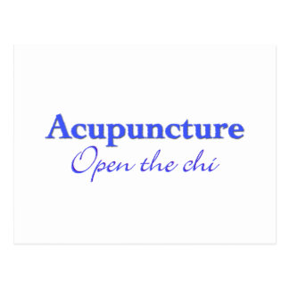Acupuncture - Open the chi Postcard