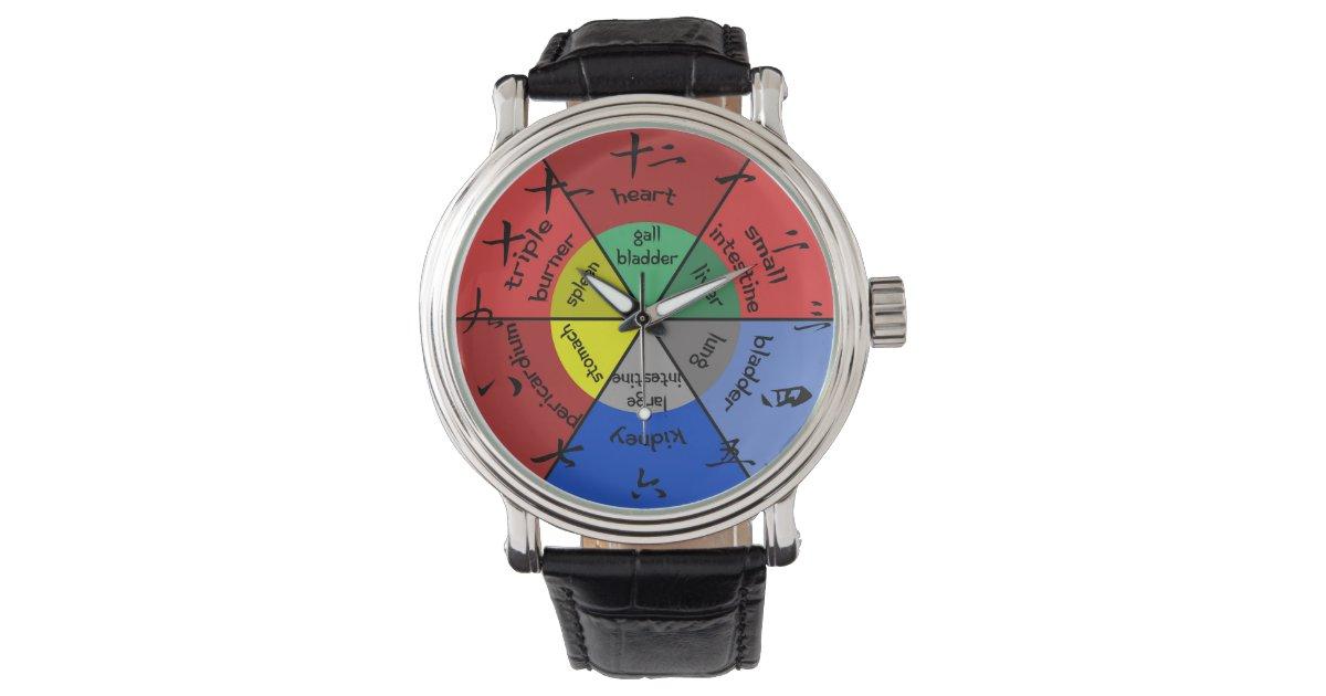 Acupuncture Organ Clock Watch Zazzle Com