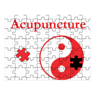 Acupuncture Puts The Pieces Together Yin Yang Postcard