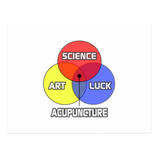 Acupuncture .. Science Art Luck Post Card