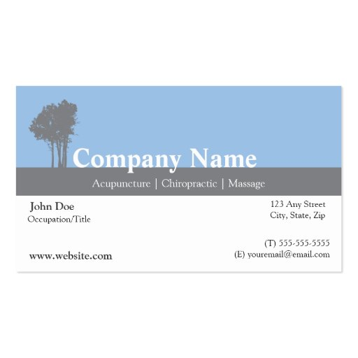 Acupuncturist business card zazzle for Acupuncture business cards