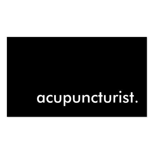 acupuncturist. business card templates