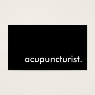 acupuncturist. business card