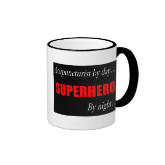 Acupuncturist del super héroe taza de dos colores