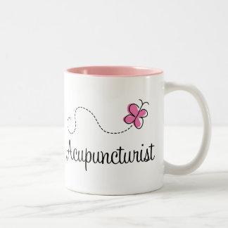 Acupuncturist rosado lindo taza de café