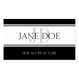 Acupuncturist Stripe W/W Business Card Templates