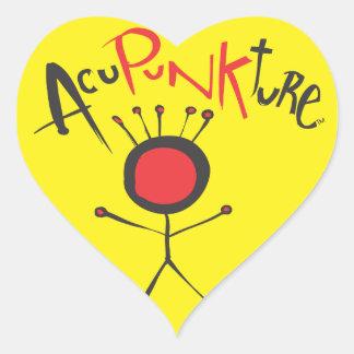 Acupunkture Heart Sticker