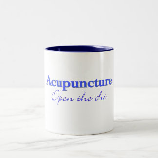Acupuntura - abra la ji taza de café de dos colores