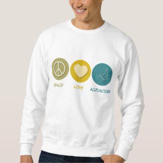 Acupuntura del amor de la paz suéter