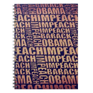 Acuse a Barack Obama Cuaderno