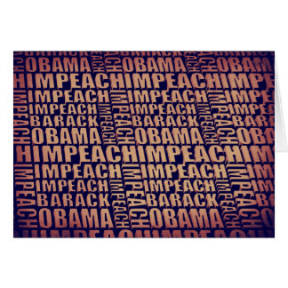 Acuse a Barack Obama Tarjeta De Felicitación