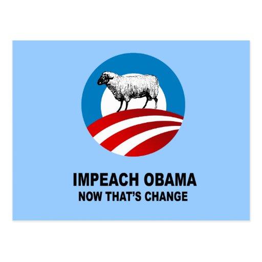 Acuse a Obama - ahora que es el cambio Postal