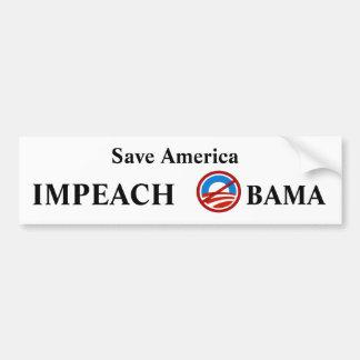 Acuse a Obama Pegatina De Parachoque
