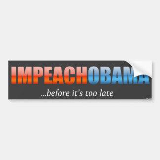 Acuse a Obama Etiqueta De Parachoque