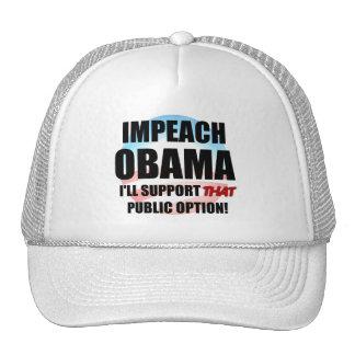 Acuse a Obama Gorros Bordados
