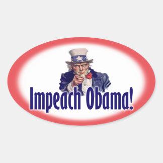 Acuse a Obama - Obama anti - 2012 Pegatina Ovalada