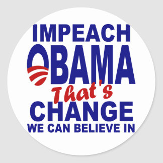 Acuse a Obama Etiquetas Redondas