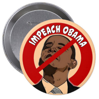 Acuse a Obama Pin Redondo 10 Cm
