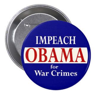 Acuse a Obama Pin Redondo De 3 Pulgadas