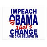 Acuse a Obama Postales
