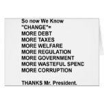Acuse a Obama Tarjeta