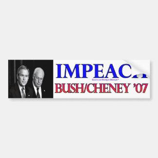 Acuse Bush/Cheney Pegatina De Parachoque