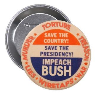 Acuse el botón de Bush 3-Inch Pin Redondo De 3 Pulgadas