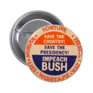 Acuse el botón de Bush