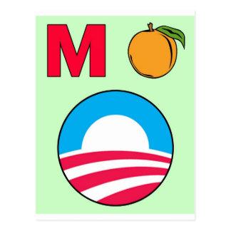 Acuse el melocotón del presidente m del barack de postales