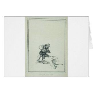 Acuse el tiempo de Francisco Goya Tarjeta De Felicitación