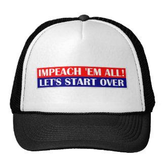 Acuse em todo, comencemos encima gorras de camionero