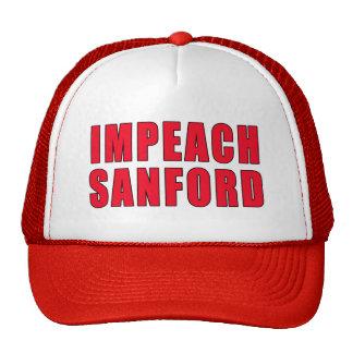 Acuse la marca Sanford del gobernador Gorras