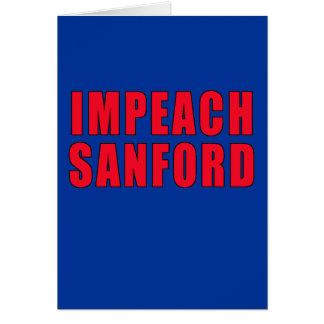 Acuse la marca Sanford del gobernador Tarjeta De Felicitación
