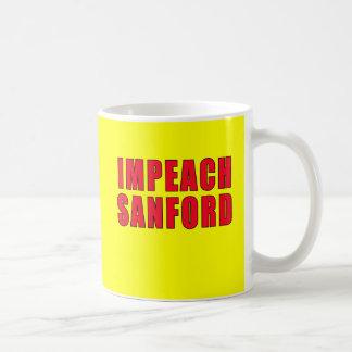 Acuse la marca Sanford del gobernador Tazas De Café