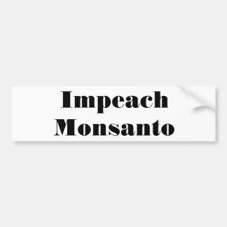 Acuse Monsanto Etiqueta De Parachoque