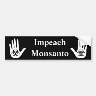 Acuse Monsanto Pegatina Para Auto