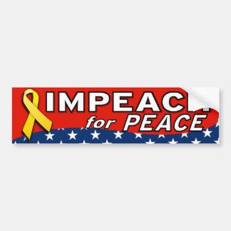 Acuse para la paz pegatina de parachoque