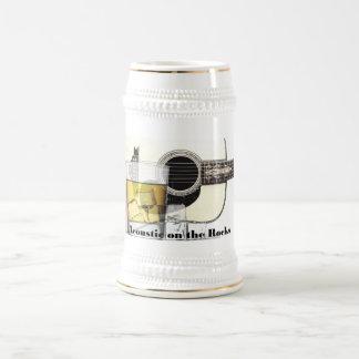 """""""Acústico en cerveza Stein de las rocas"""" Jarra De Cerveza"""