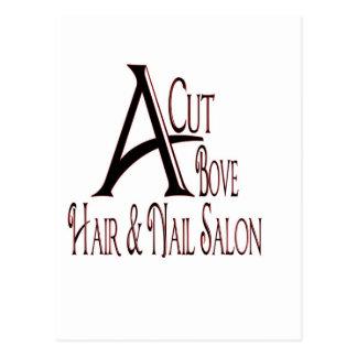 Acut Above Hair Salon Postcard
