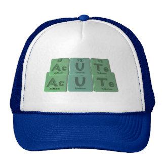 Acute-Ac-U-Te-Actinium-Uranium-Tellurium Trucker Hat