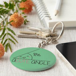 Acute Angle Keychain