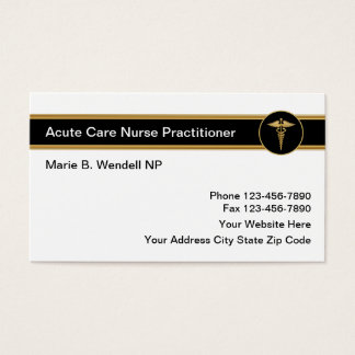 Acute Care Nurse Practitioner Business Card