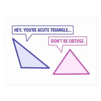Acute Triangle Obtuse Angle Post Card