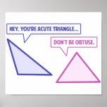 Acute Triangle Obtuse Angle Poster