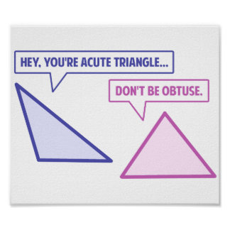 Acute Triangle Obtuse Angle Poster