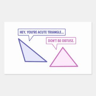 Acute Triangle Obtuse Angle Rectangular Sticker