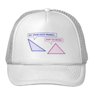 Acute Triangle Obtuse Angle Trucker Hat