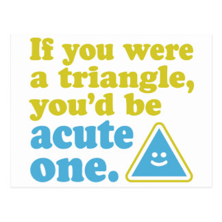 Acute Triangle Postcard