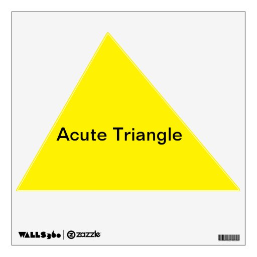 Acute Triangle Wall Decal